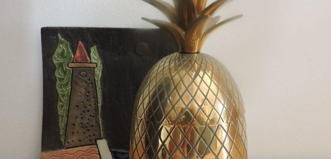 My non- trend brass pineapple