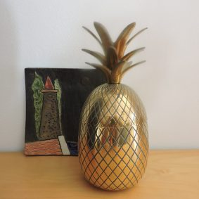 My non- trend brass pineapple